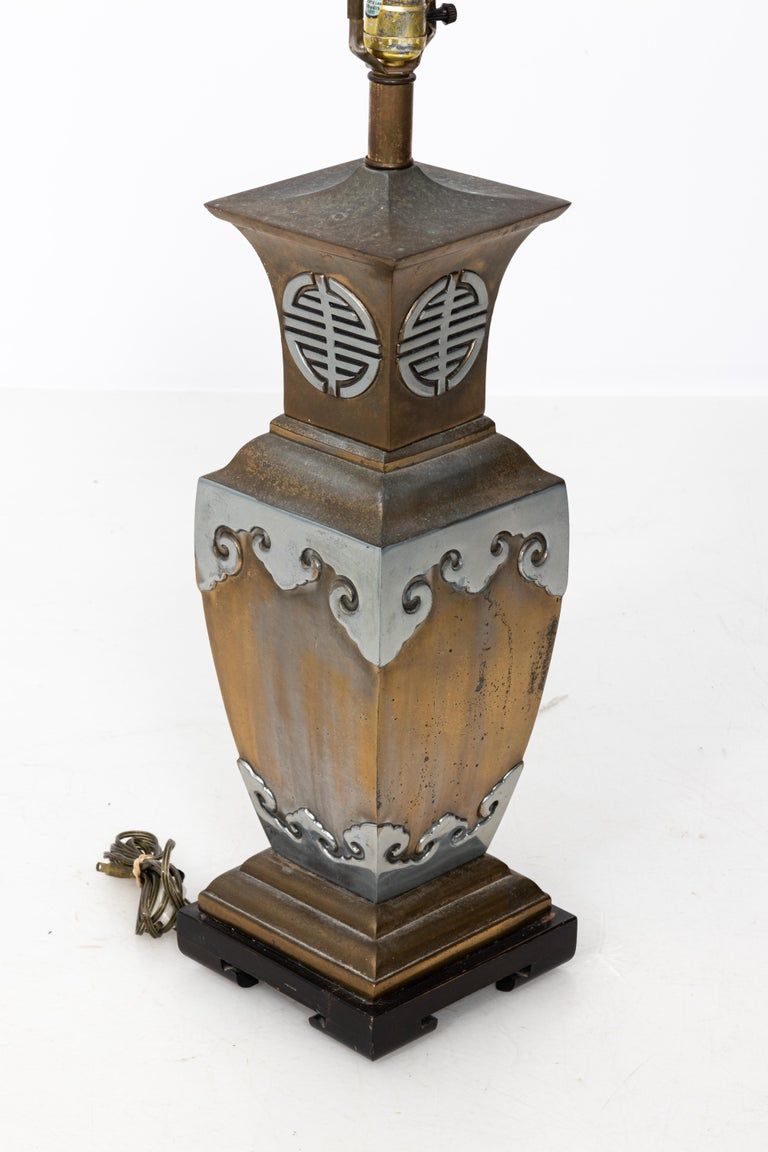 Asian Style James Mont Pair of Lamps In Good Condition For Sale In New York, NY