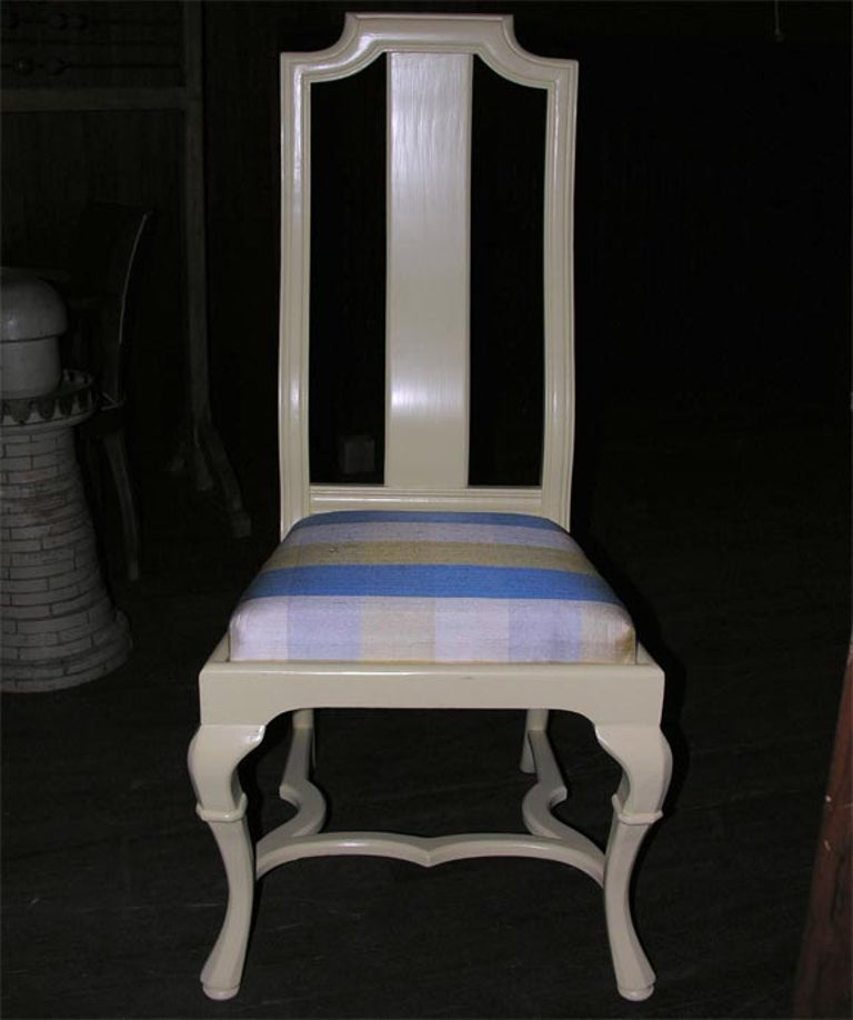 American Asian Style Queen Anne Side Chair For Sale