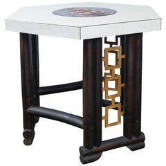 Asian Style Side Table, Attributed to James Mont