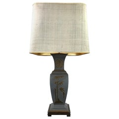 Asian Style Table Lamp, Metal with Brass, 1950s