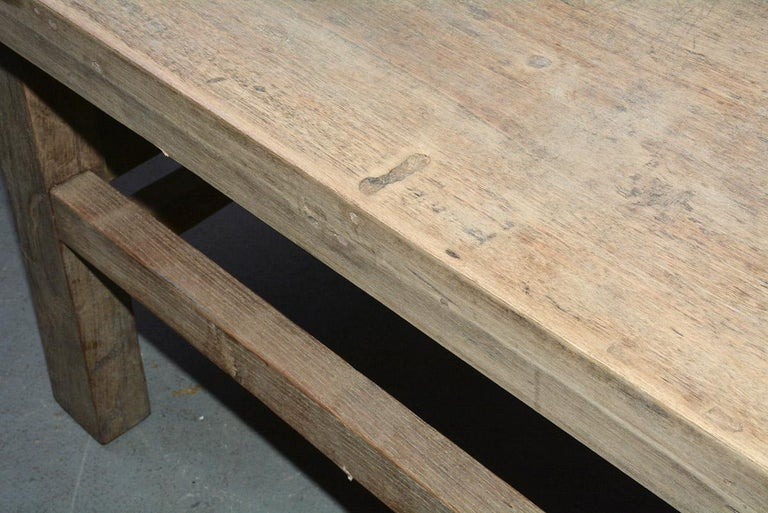 Asian Teak Wood Coffee Table For Sale 3