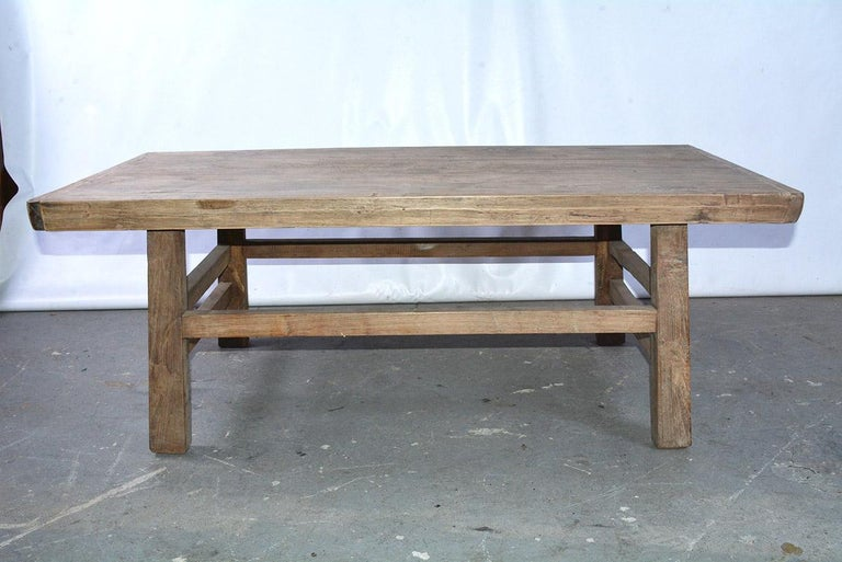 Anglo-Indian Asian Teak Wood Coffee Table For Sale