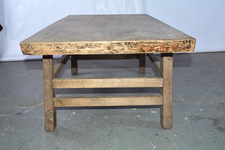 Indonesian Asian Teak Wood Coffee Table For Sale