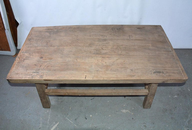 Hand-Crafted Asian Teak Wood Coffee Table For Sale