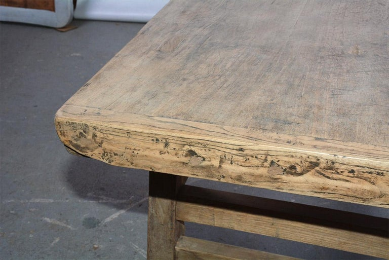 Asian Teak Wood Coffee Table In Good Condition For Sale In Great Barrington, MA