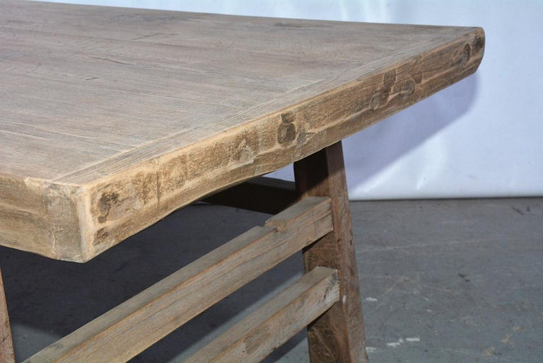 20th Century Asian Teak Wood Coffee Table For Sale