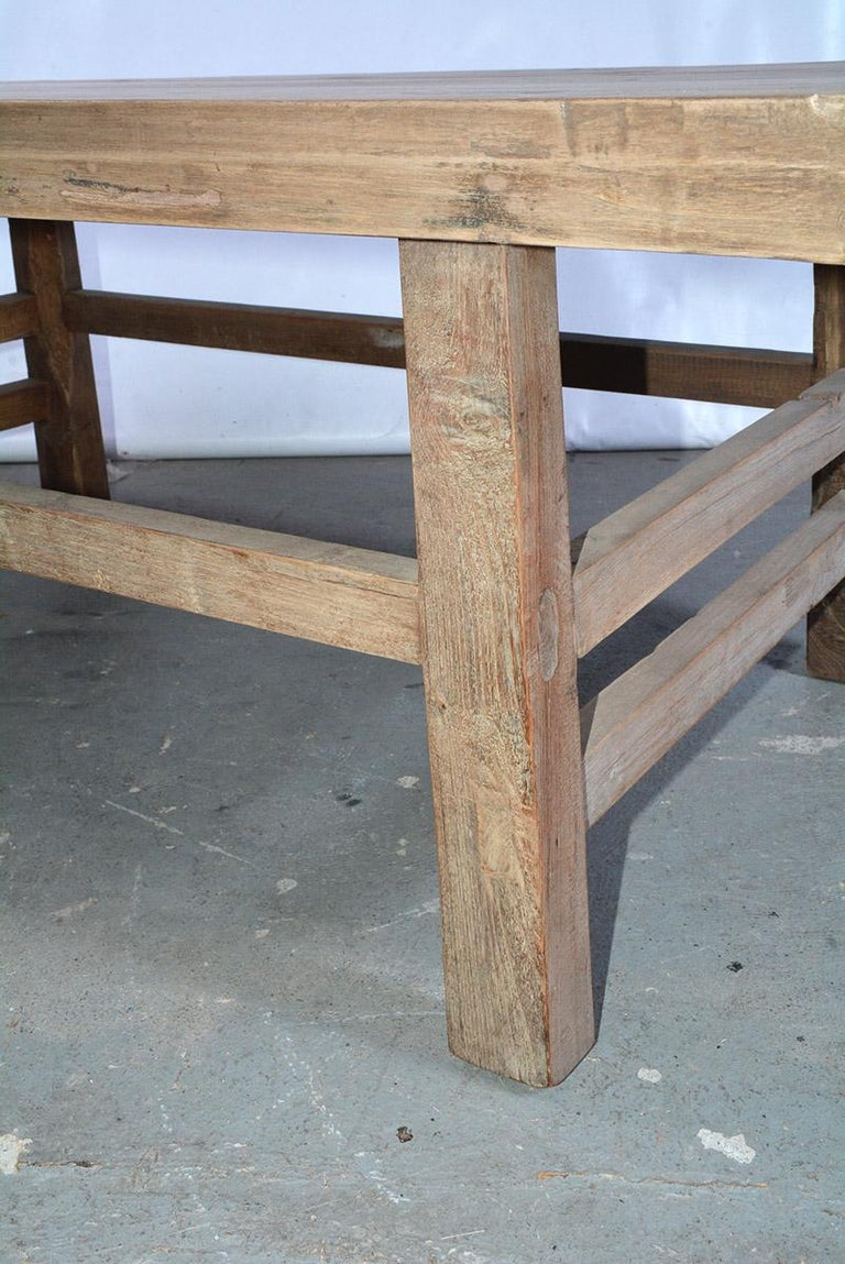 Asian Teak Wood Coffee Table For Sale 2