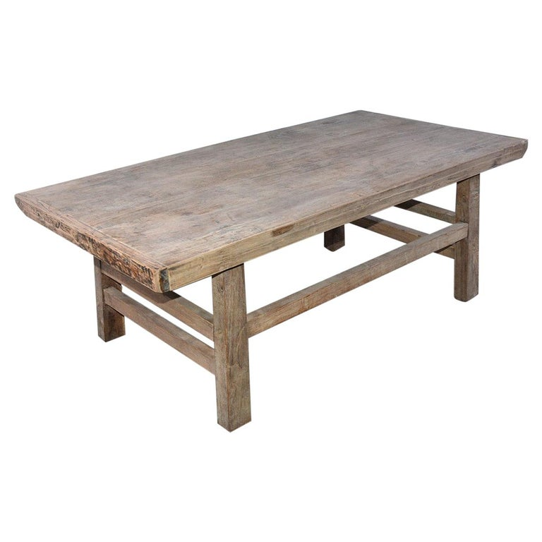 Asian Teak Wood Coffee Table For Sale