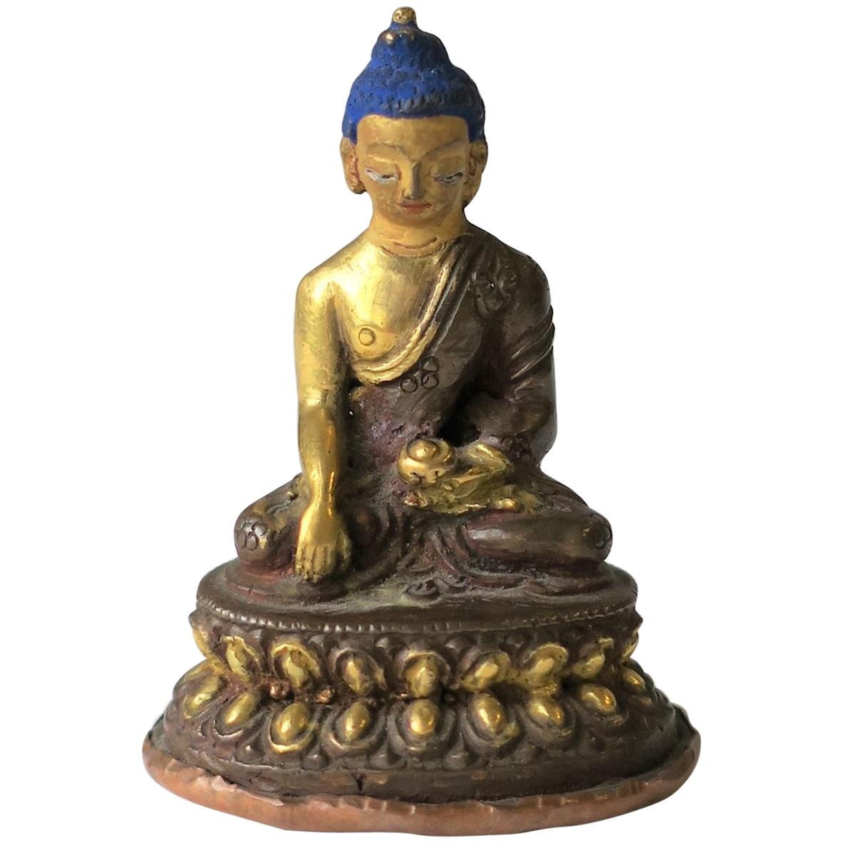 Asian Thai Gold Gilt Bronze Buddha Sculpture, circa 19th Century