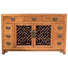 Asian TV Stand, Solid Wood Entertainment Center