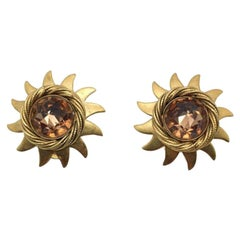 Askew Vintage Sunburst Earrings 1980S