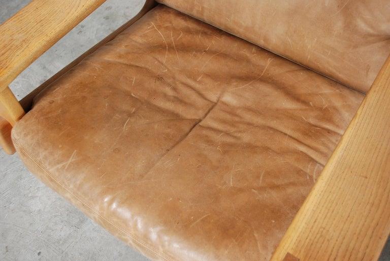 Asko Bonanza Armchair Brown Caramel Leather Chair Design Esko Pajamies 2