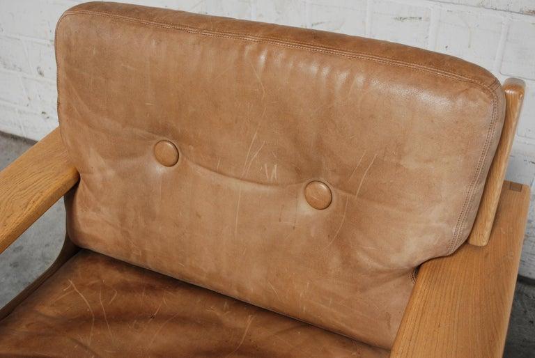 Asko Bonanza Armchair Brown Caramel Leather Chair Design Esko Pajamies 3