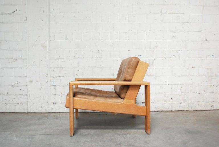 Oiled Asko Bonanza Armchair Brown Caramel Leather Chair Design Esko Pajamies