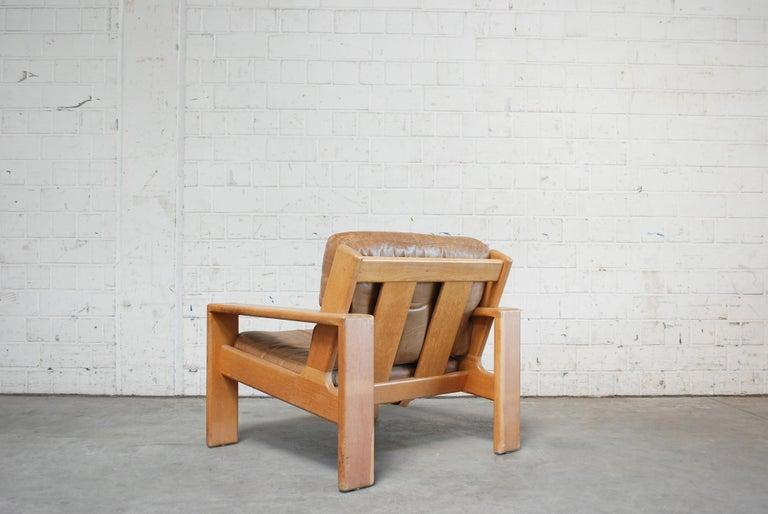 Asko Bonanza Armchair Brown Caramel Leather Chair Design Esko Pajamies In Good Condition In Munich, Bavaria