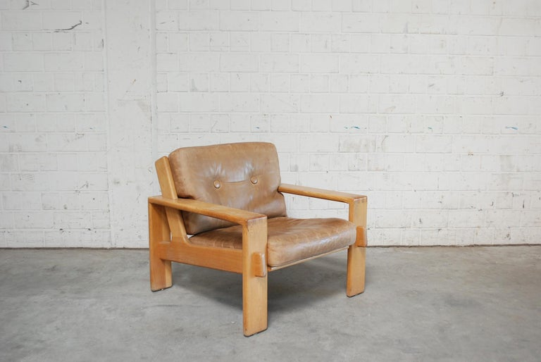 Asko Bonanza Armchair Brown Caramel Leather Chair Design Esko Pajamies 1
