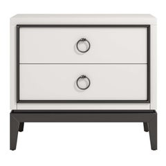 Asmara White Nightstand