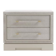 Asmara White Nightstand with Horizontal Hanldes