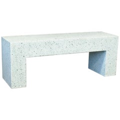 'Aspen' Bench, Malachite Terrazzo Finish by Zachary A. Design
