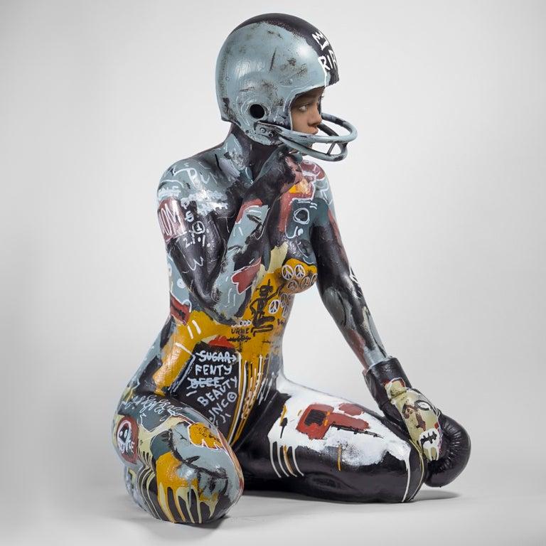 RIRI - Gray Nude Sculpture by ASPENCROW