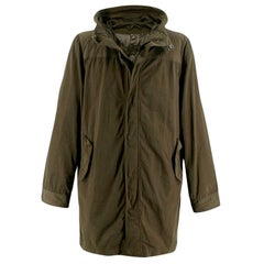 Aspesi Khaki Green Hooded 2in1 Rain Jacket - Size XL