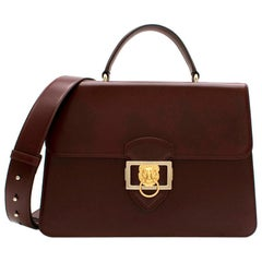 Aspinal Large Maroon Leather Messenger Bag