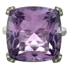 Asprey Amethyst Diamond Gold Ring