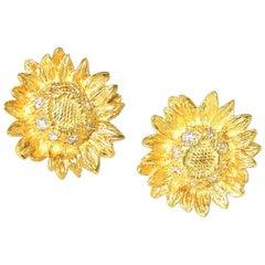 Asprey & Co. London 18 Karat Gold and Diamond Earrings