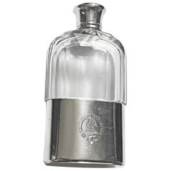 Asprey English Hallmarked Silver Hip Flask, London, 1867