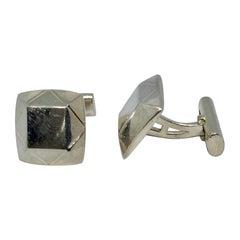 Asprey Geometric Cufflinks in Sterling Silver