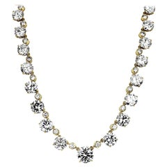 Asprey, GIA Certified Round Big Diamond Riviera Line Necklace/Headpiece/Tiara