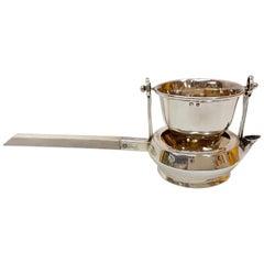 Asprey London Edwardian Sterling Silver Swivel Tea Strainer with Handle, England