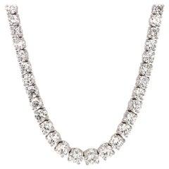 Asprey Platinum and Diamond Riviera Necklace