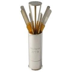 Asprey Silver Cartridge Butt Marker, circa 1930s