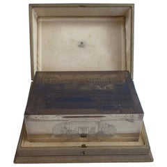 Asprey Sterling Silver Ceremonial Box Finely Engraved '#1569' Exceptional