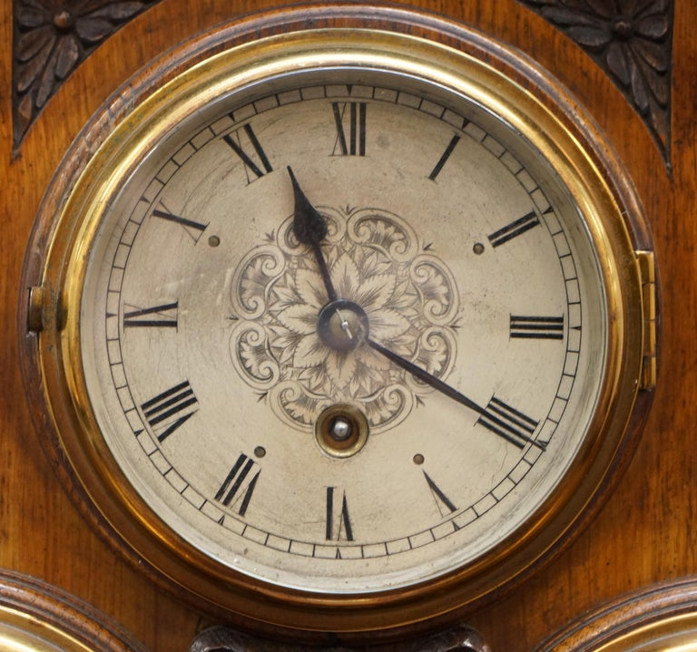 Asprey Victorian Mahogany Cased Mantle Clock Barometer And