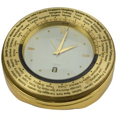 Asprey World Time Desk Clock
