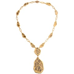 Asprey Yellow Gold and Tiger's Eye Sautoir