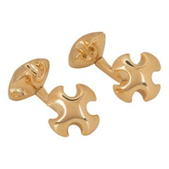 Asprey Yellow Gold Cross Cufflinks