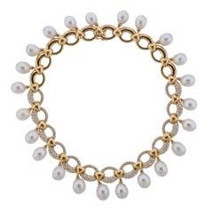 Assael Diamond South Sea Pearl Gold Necklace