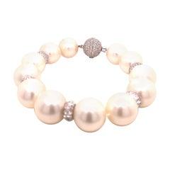 Assael Pearl and Diamond Bracelet