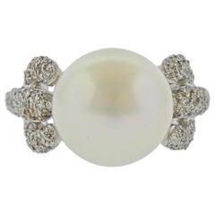 Assael South Sea Pearl Diamond Gold Ring