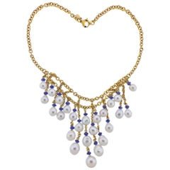 Assael South Sea Pearl Sapphire Gold Necklace