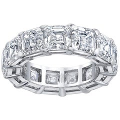 Asscher-Cut Diamond Eternity Band