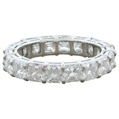 Asscher Cut Diamond Platinum Eternity Band