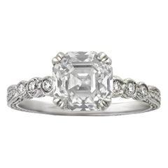 Asscher-Cut Diamond Ring, 2.04 Carats