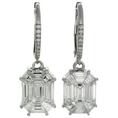 Diamond White Gold Drop Earrings