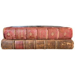 Assembled Pair of 18th-19th Century English Leather Bound Books