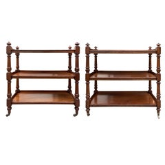 Assembled Pair of circa 1820s-1840s English Regency Mahogany Trolleys