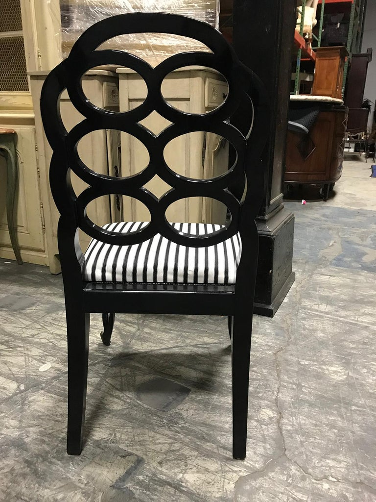 Assembled Set of 8 Loop Dining Chairs in the Style of Frances Elkins For Sale 7